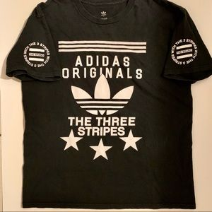 Adidas Originals T-Shirt, The Three Stripes. Sz L